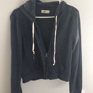Hollister Navy ZIP Up SweatShirt - Small
